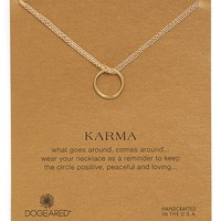 Women's Dogeared 'Karma' Boxed Two-Row Pendant Necklace - Gold