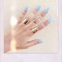 In The Sky Ring Set- Gold