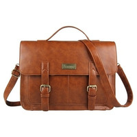 European style Document file Vintage Messenger Bags briefcases office crossbody bags