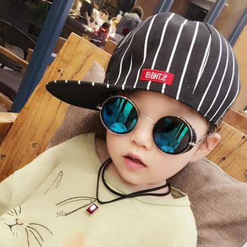 Retro Vintage Steampunk Baby Boys Girls Kids Sunglasses Brand Designer UV400 Children Sun Glasses Oculos De Sol Gafas