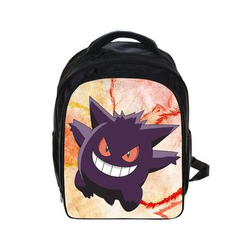 Japanese Anime Bag Cute Kids Pokemon Gengar Printing Backpacks  Backpack Boys Girls School Bags Children Book Bag Daily Backpack Best Gift Bag AT_59_4