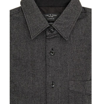 Rag & Bone Dark Grey Beach Shirt