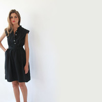 Black , Knee Length , Women Dress , Summer Dress