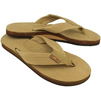 Women's Premier Leather Single Layer Arch Sandal in Sierra Brown by Rainbow Sandals