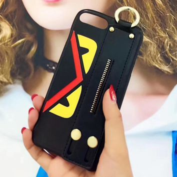 FENDI Hand Strap Holder iPhone Phone Cover Case For iphone 6 6s 6plus 6s-plus 7 7plus 8 8plus