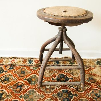 Victorian Antique Industrial Wooden Stool
