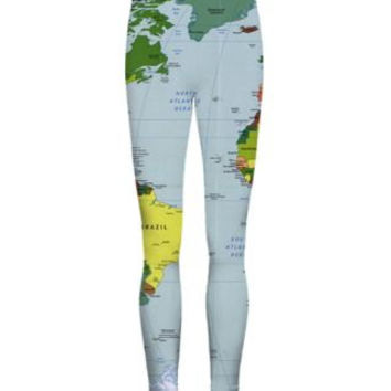 World map leggings wanderlust travel hipster globe print summer nautical hipster legging librarian style