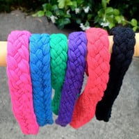 "Braided T-Shirt Headband: ""Gimme Bold and Bright"""