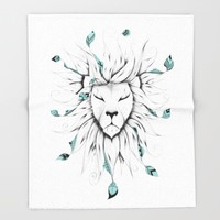 Poetic King Throw Blanket by LouJah