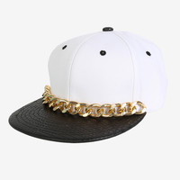Missy Chained Faux Leather Snapback