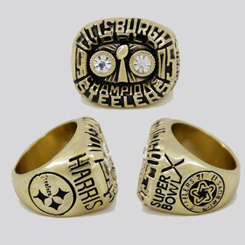 2017 New Arrival Sport Jewelry 1975 Super Bowl Pittsburgh Steelers Championship Ring custom big size 11