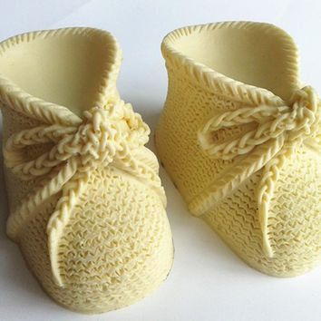 Design 347 Baby's Shoes Shape  Silicone  Mold, 3D Fondant Mold,Soap Mold,Chocolate Mold,Cake  Tool