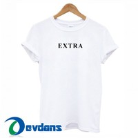 Extra Font T Shirt Women And Men Size S To 3XL