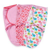 Summer Infant® SwaddleMe® Small/Medium 3-Pack Adjustable Blankets in Elephants