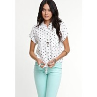 Amazon.com: Kirra Womens Short Sleeve Tie Front Button Down Shirt: Clothing