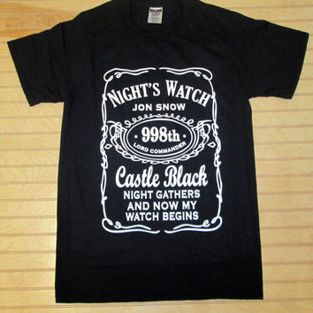 Printed Unisex T Shirt Night's Watch Jon Snow Game Of Thrones