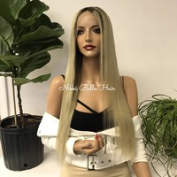 Blonde Human Hair Full Lace Wig - April