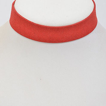 Leather Choker (Red)
