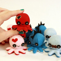 Custom tiny octopus plushie - 2.5""
