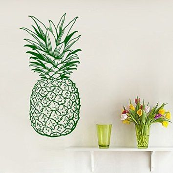 Wall Decor Vinyl Decal Sticker Home Interior Design Food Fruits Pineapple Cafe Kitchen Living Room Bedroom Kids Room Decor Kg913
