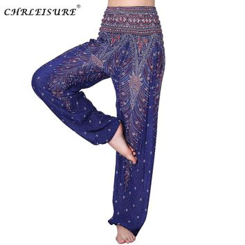 CHRLEISURE Fashion Printed Harem Pants Women Autumn Loose Female High Waist Pants Pantalon Mujer Pockets Bloomers