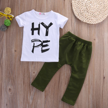 Autumn Toddler Boy Kids Outfits Clothes Tracksuits T-shirt and Pants Sets Age 2-6 Y