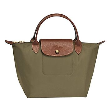 LONGCHAMP LE PLIAGES TOP HANDLE SMALL KHAKI
