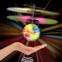 2016 New Control Aircraft Mini Flying Ball Helicopter Colorful LED Flash Sensing Sensor Flying UFO Remote Control Toy For Kids