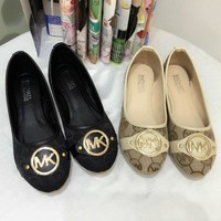 Michael Kors MK Women Fashion Leather Flats Shoes