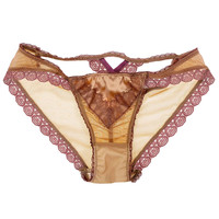 Claire Cross Back Luxe Panty in Rose Petal