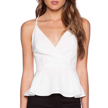 Finders Keepers Here We Go Top in White