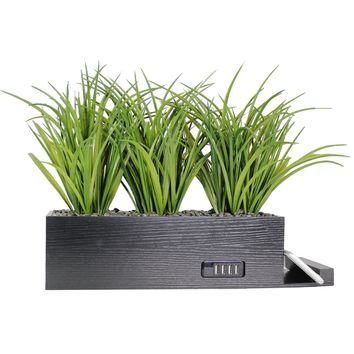 Wild Grass Power Plant with 4 USB Ports