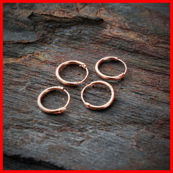 Rose Gold Septum Ring Sterling Silver Nose Hoop 22g 18g Ring Helix Earring Cartilage Earring Tragus Jewelry Nipple Piercing Helix Piercing