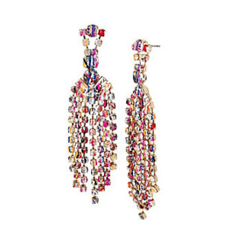 HARLEM SHUFFLE CHANDELIER EARRINGS: Betsey Johnson