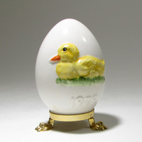 Goebel Annual Easter Egg 1979 Yellow Duck