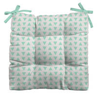 Allyson Johnson Minty Triangles Outdoor Seat Cushion