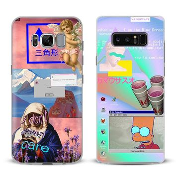 Vaporwave Art Coque Phone Case For Samsung Galaxy S4 S5 S6 S7 Edge S8 S9 Plus Note 8 2 3 4 5 A5 A7 J5 2016 J7 2017 Cover Shell