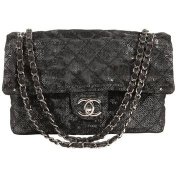 Chanel Hidden Sequins Jumbo Classic Flap Bag