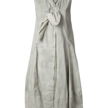 Rundholz Ruffled Button Down Dress