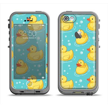 The Cute Rubber Duckees Apple iPhone 5c LifeProof Fre Case Skin Set