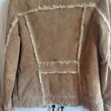 wilsons leather jacket/coat suade size small