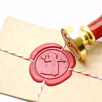 Queen of Hearts Alice in the Wonderland B20 Gold Plated Wax Seal Stamp x 1