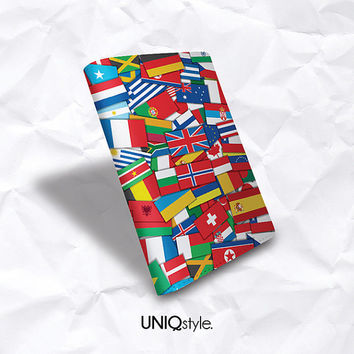 World flag Travel luggage passport holder - pu leather Passport Holder Case Cover - America UK Brazil France Canada flag travel wallet - A51