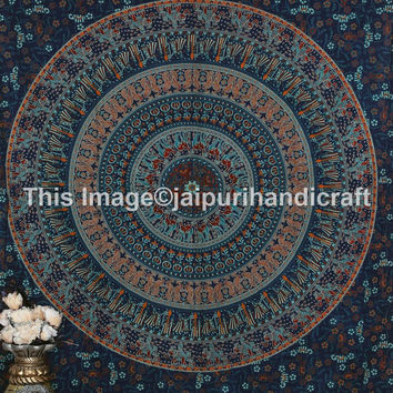 Camel Mandala Tapestry , Indian Hippie Wall Hanging , Elephant Camel Wall Hanging, Bohemian Twin Wall Hanging, Bedspread Beach Coverlet,