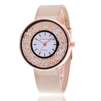 New Fashion Stainless Steel Gold & Silver Band Quartz