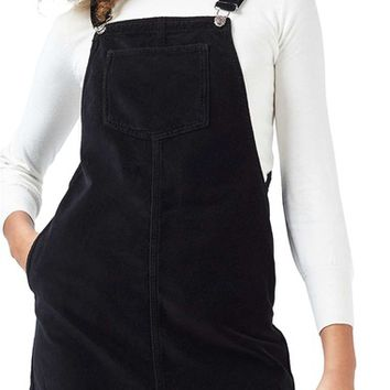 Topshop Velvet Pinafore Dress (Petite) | Nordstrom