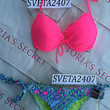 New Sexy Victoria's Secret Fabulous Push Up Bikini Set Neon Pink Paisley S L