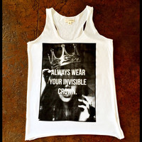 Always wear your invisible crown racer back tank