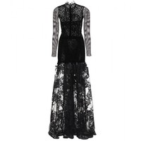 mytheresa.com -  Lace and mesh floor-length gown - Luxury Fashion for Women / Designer clothing, shoes, bags