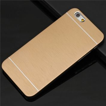For iphone 5s case iphone 5 cover i phone5 i5 Luxury anti-knock Abs Shell And Brushed Metal Panel Phone Case